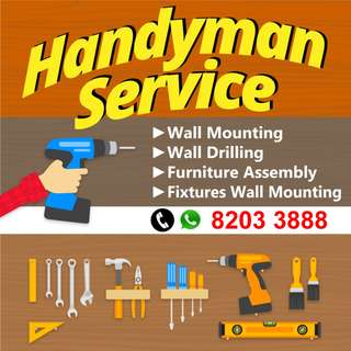 Handyman Wall drilling furniture assembly repair