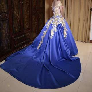 2 way BALL GOWN DEBUT COCKTAIL DRESS BLUE PINK rent!!!