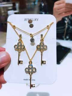 18k Gold Plated Sets Double Chain Made in Korea