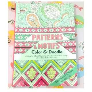[BBW}] Buku import Patterns & Motifs Adult Colouring