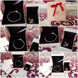 Original Pandora bracelet and charm