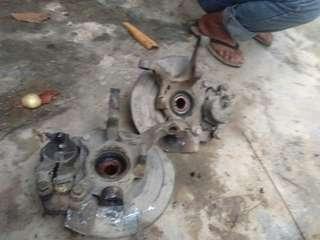 1 set brake pad satria original