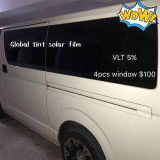 Toyota Haice window solar Film