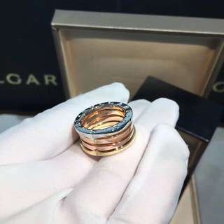 Bvlgari B.Zero1 三色金彈簧戒指