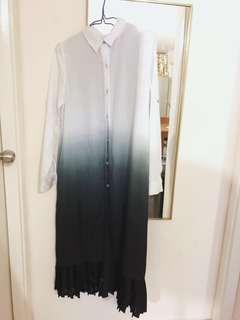Rococo 長身裙漸變色文青款initial款