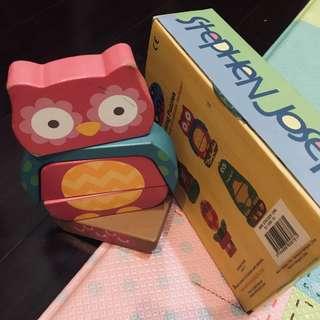美國帶回🇺🇸Stephen Joseph Mini Stacking owl Puzzle[ 二手