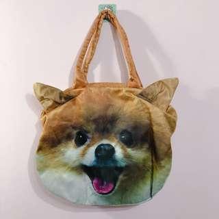 🚚 印刷博美狗肩背包