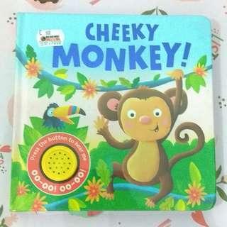 [BBW] Buku anak import Cheeky Monkey sound book