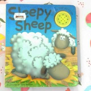 [BBW] Buku import anak Sleepy Sheep sound book