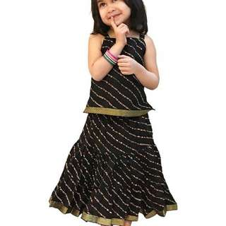 Kids Cotton Lehenga Choli Set Vol 2