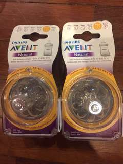 Avent Natural Teats size 4