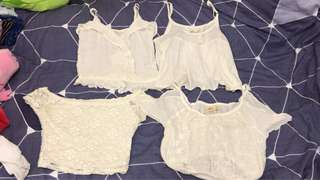 Hollister white Top (all size xs)