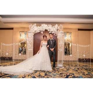 Wedding props decoration in hotel ballroom