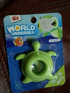 Turtle magnifying glass eraser