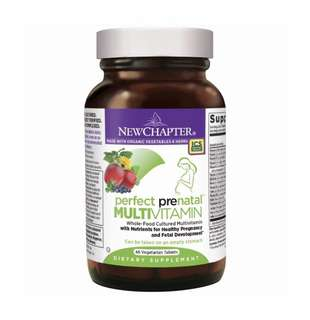 [IN-STOCK] New Chapter Perfect Prenatal Vitamins Fermented with Probiotics + Wholefoods + Folate + Iron + Vitamin D3 + B Vitamins + Organic Non-GMO Ingredients - 48 ct