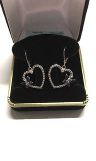 New Sterling Silver and Sapphire Earrings