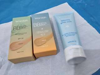 NEW Wardah BB Cream + Lightening Gentle Wash