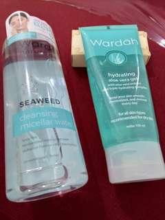 NEW Wardah Micellar Water + Preloved Wardah Aloe Vera