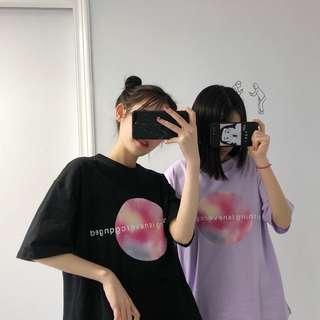 全新 女裝 Q957826 春夏情侶閨蜜字母寬松短袖T恤學生中袖打底衫上衣體恤潮