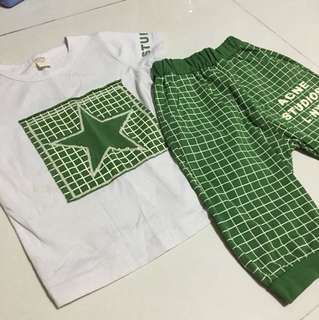 Boy t shirt and pants set (to bless)
