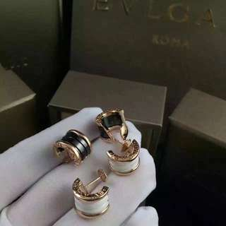 Bvlgari B.Zero1 黑白陶瓷耳環