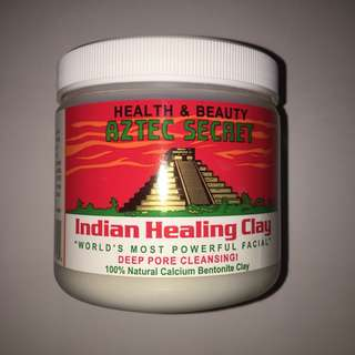 AZTEC SECRET INDIAN HEALING CLAY ( 100g with free Bowl and spoon )