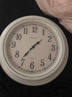 White weathered wall clock