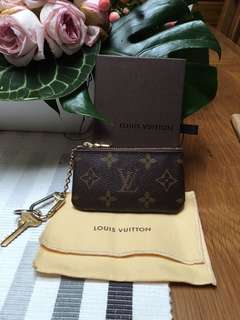 AUTHENTIC LOUIS VUITTON CLES KEY POUCH