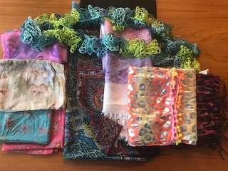10 scarves