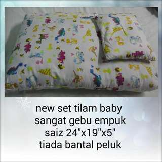 new bedding set tilam gebu & kelambu baby newborn