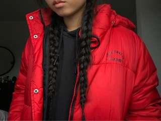 red ralph lauren polo vintage puffer jacket