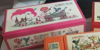 懷舊 日本 兩層 音樂盒 可放相片