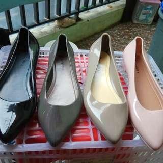 jelly shoes sepatu wanita bahan jelly