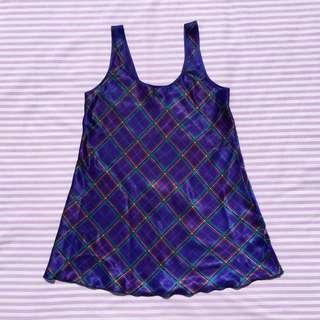 Vintage Tartan Slip Dress