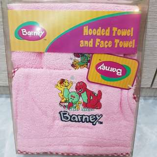Baby hooded &fave towel Barney