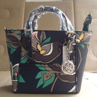 AUTHENTIC GUESS Delaney Floral-print MIni Tote Crossbody bag
