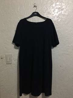 UNIQLO Navy Blue Dress (L)