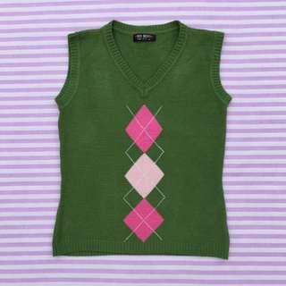 Argyle Knit Vest Top
