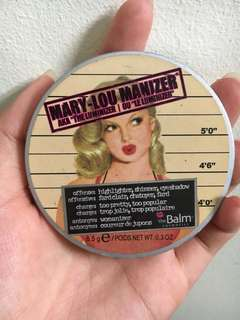 ORIGINAL Mary lou manizer the balm highlighter isi 95% the luminizer
