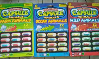 Growing Animals Capsule (3 sets)