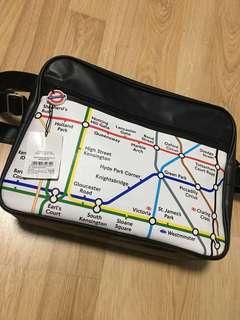 WTS Brand New London Underground Tube Map Sling Bag