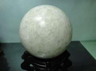 🚚 天然漂亮白龍麟石英球2.43公斤-附小底座