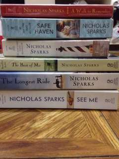 Nicholas Sparks Books (UPDATED❗️)