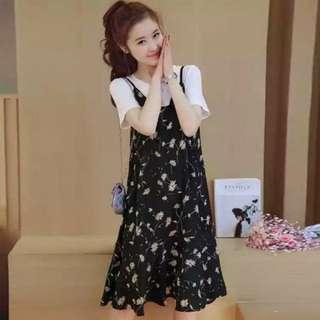 FREE POSTAGE 2 piece XL floral dress x2