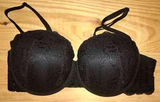 La Senza black lace push up bra