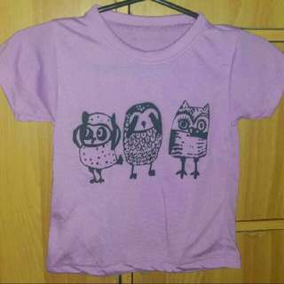 Toddlers tshirt owl