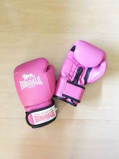 Boxing Gloves (Original Lonsdale in color pink, size 10)