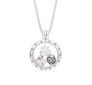 PANDORA floating locket necklace set