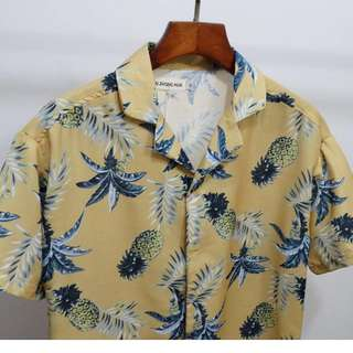 Vintage Tropical Hawaiian Shirt (Yellow only)