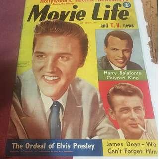 Movie Life Magazine Elvis Presley Cover September 1957
